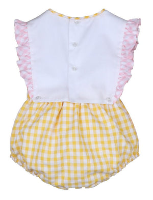 Load image into Gallery viewer, Sunny Gingham Girl Overall