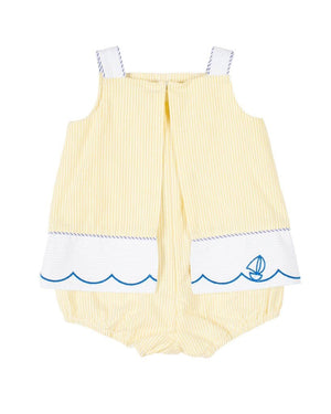 Skirted Romper with Sailboats