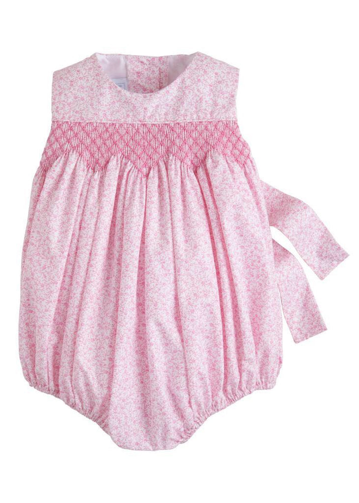 Pink Simply Smocked Bubble