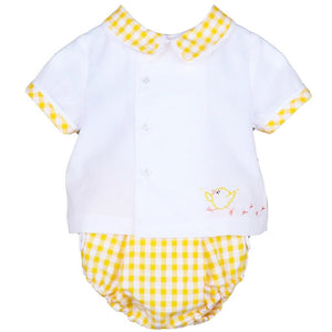 Load image into Gallery viewer, Sunny Gingham  2Pc Boy Set