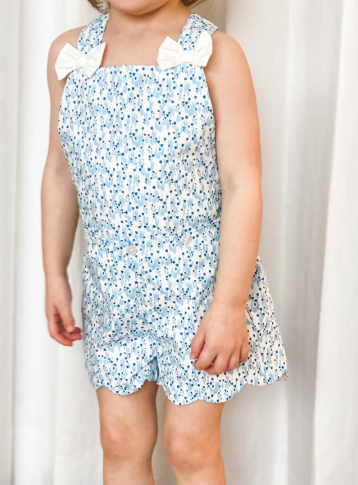 Load image into Gallery viewer, Blue Bonnet Romper