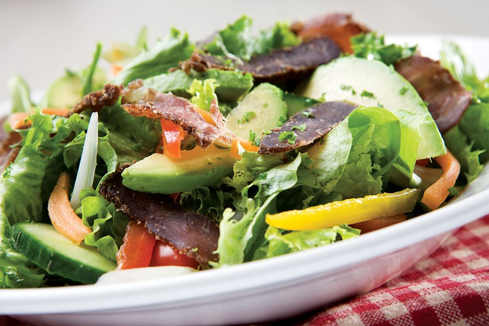 African Beef Salad with Biltong