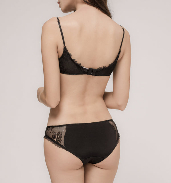 03 Tiny flower bra (Black) 03BRALA02