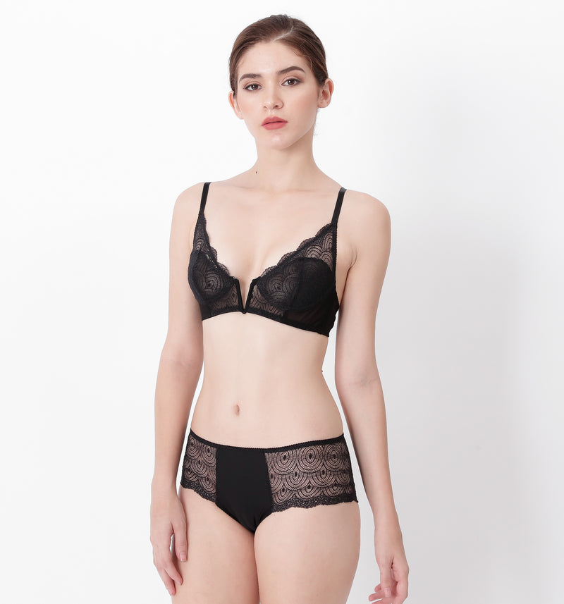 04 All-over lace bra (Black) 04BRALA13