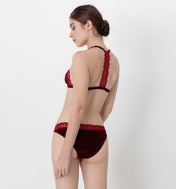 04 Velvet triangle panty (Red) 04UNDVELA10