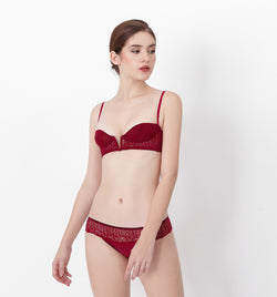 04 V-shape lace bra (Red) 04BRALA14
