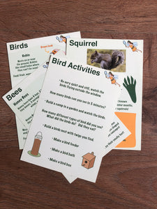 DIGITAL Version - Set of 10 BIRDS, BEES and WILDLIFE Flash Cards