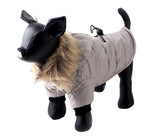 Warm Winter Dog Coat With Fur Hood, For Small Dogs