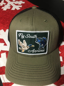 488d954e The Olive/Black Fly South Apparel Patch Hat