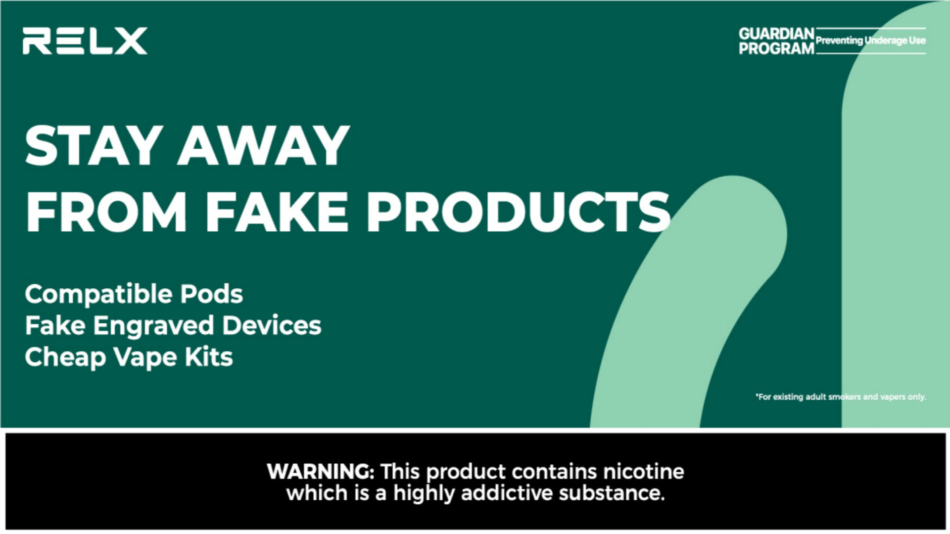 RELX Warns Vapers to Stay Away from Compatible Pods, Fake Engraved Devices and Cheap Vape Kits