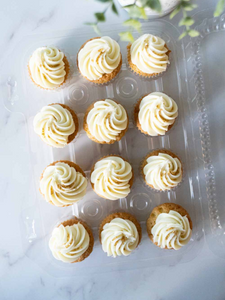 White Chocolate Italian Buttercream Cupcakes