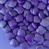 Purple Seashell Sugar Shapes