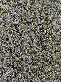 Black, White, Gray + Gold Non Pareils