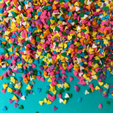 Rainbow Love Heart Confetti