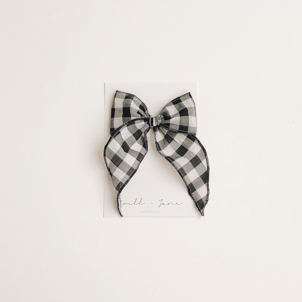 Sailor bow - black check