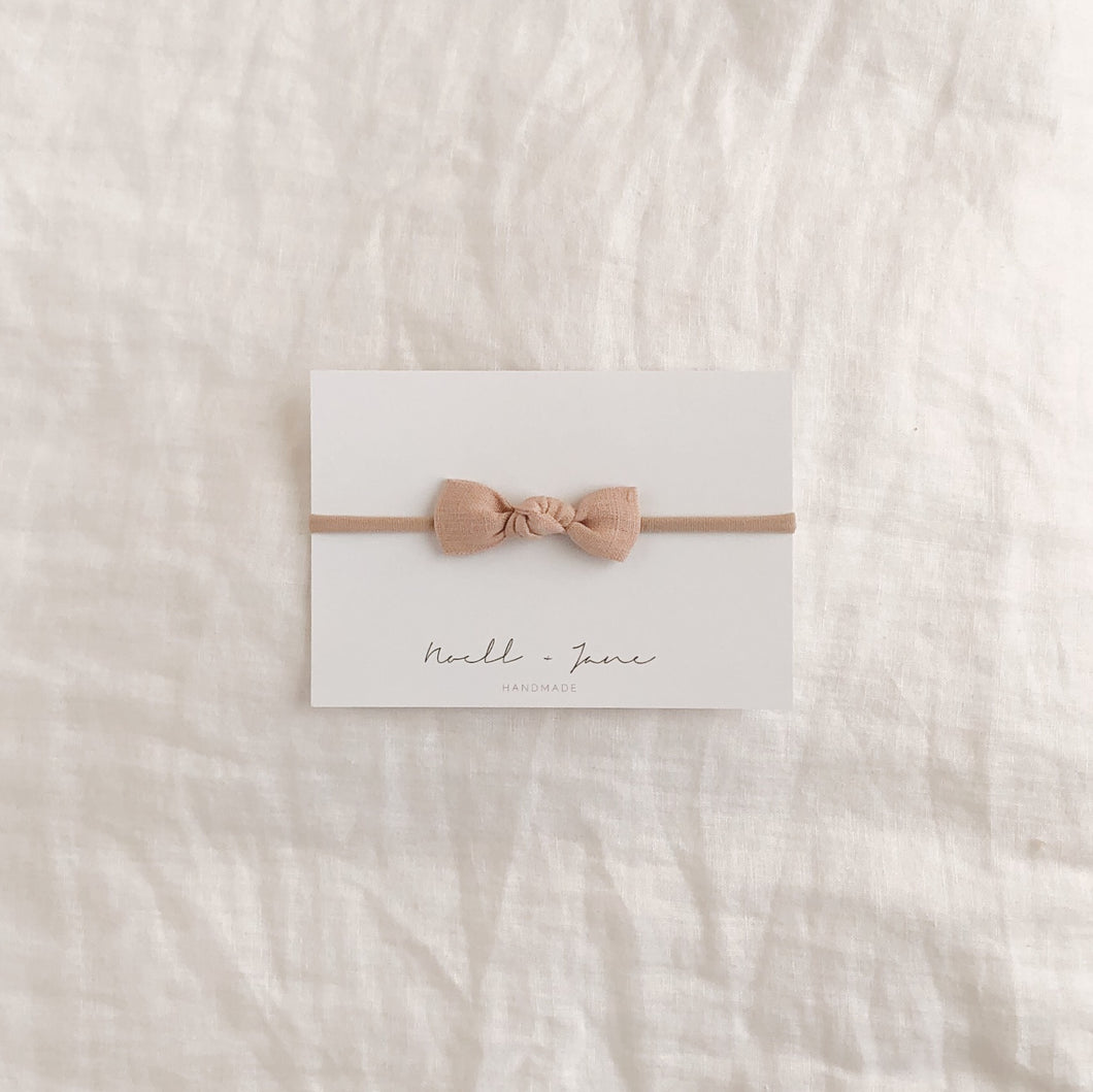 knot bow - antique blush