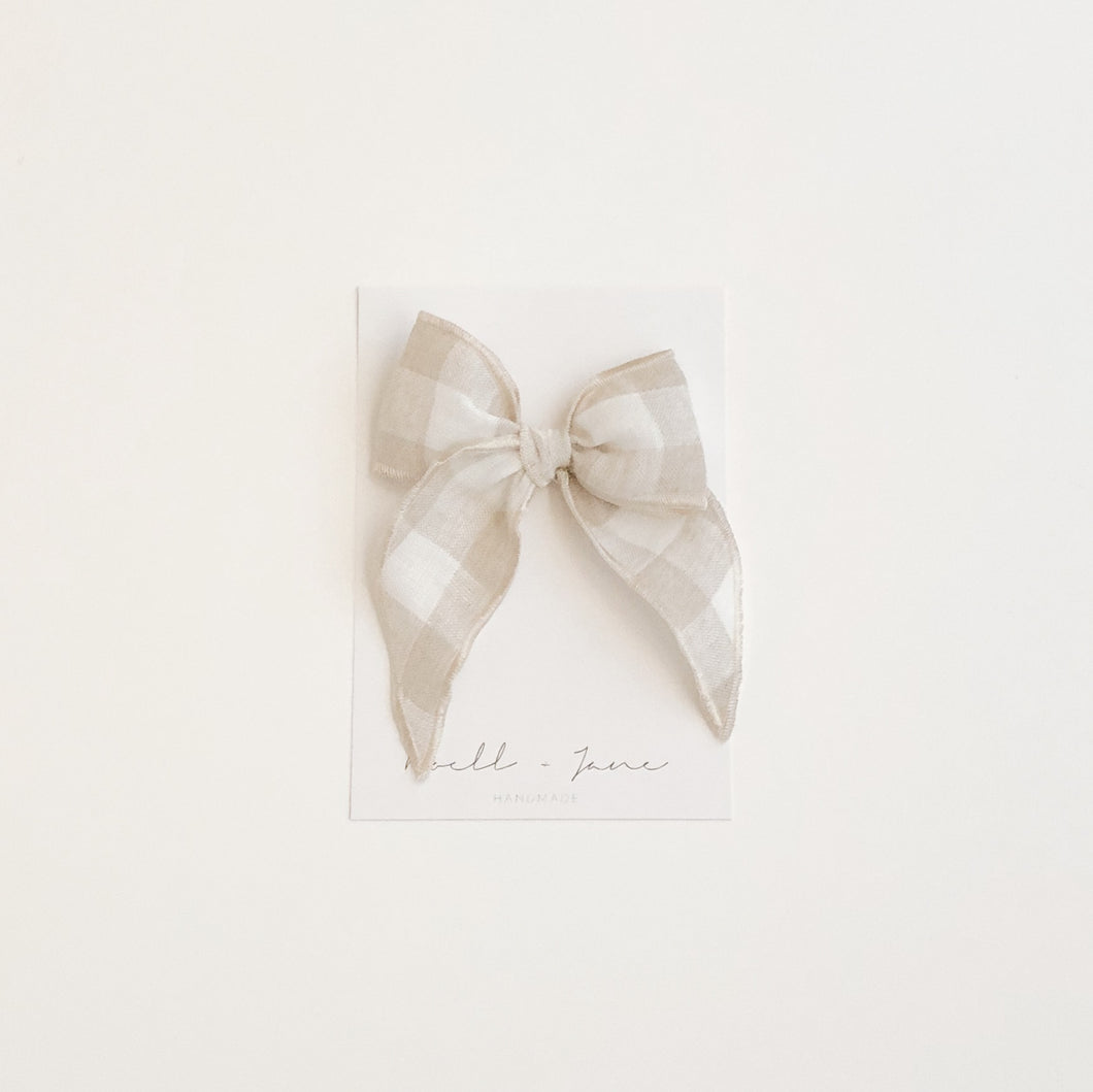 Sailor bow midi - natural check