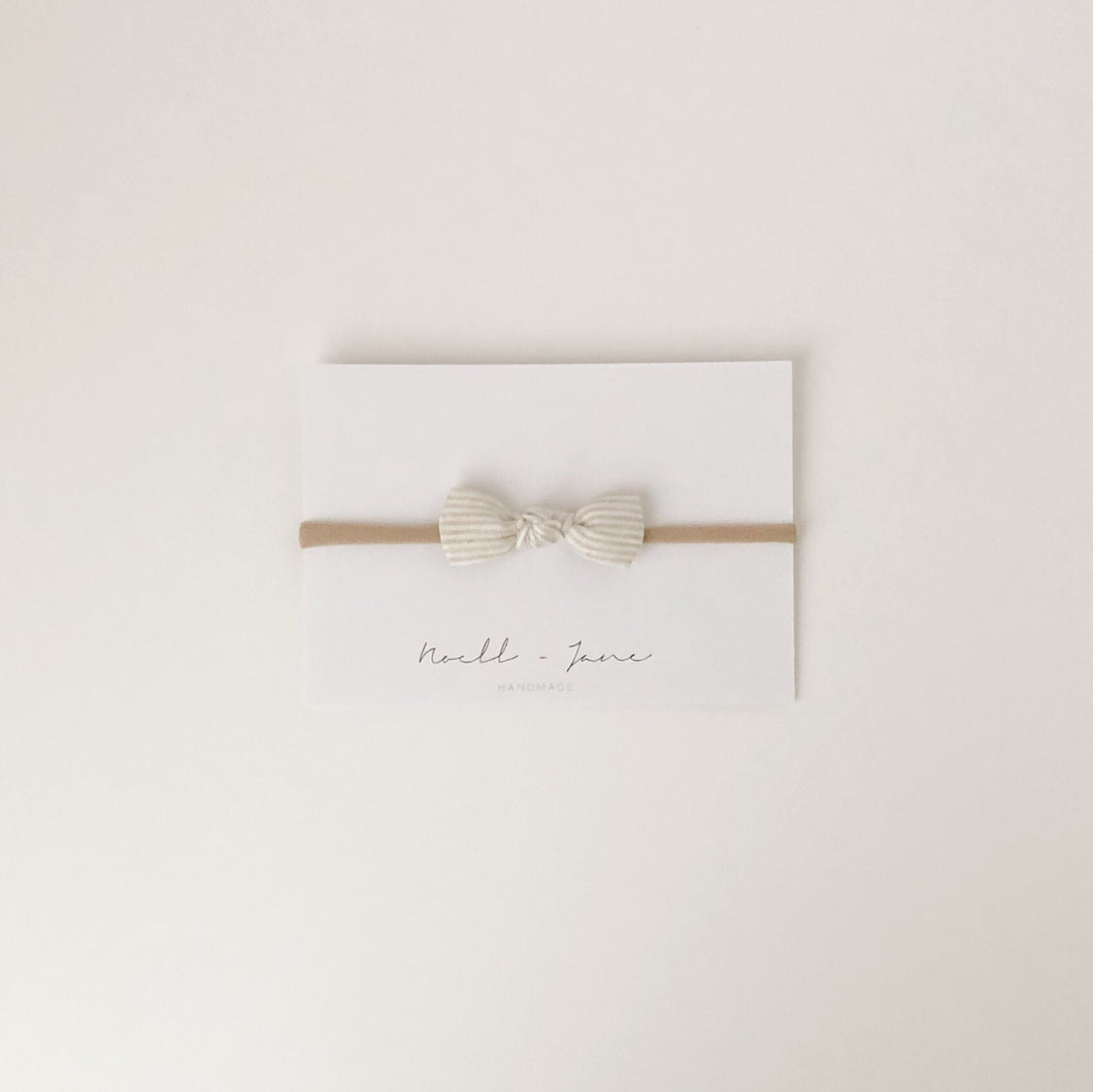 knot bow - natural stripe