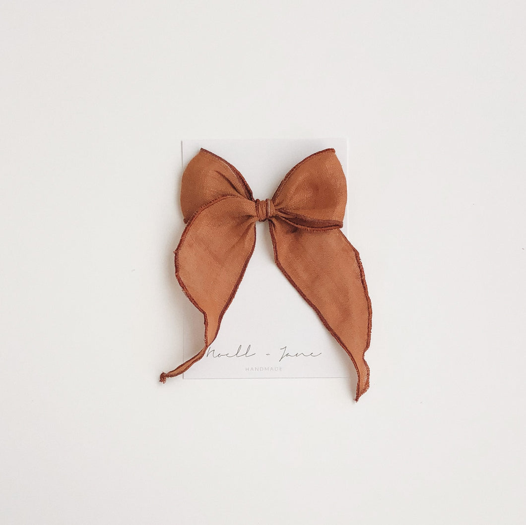Sailor bow - caramel