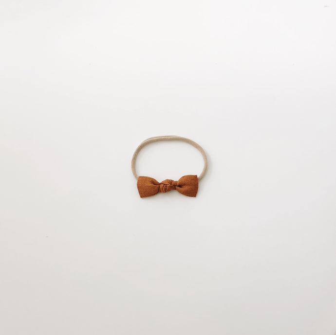 knot bow -  golden mustard