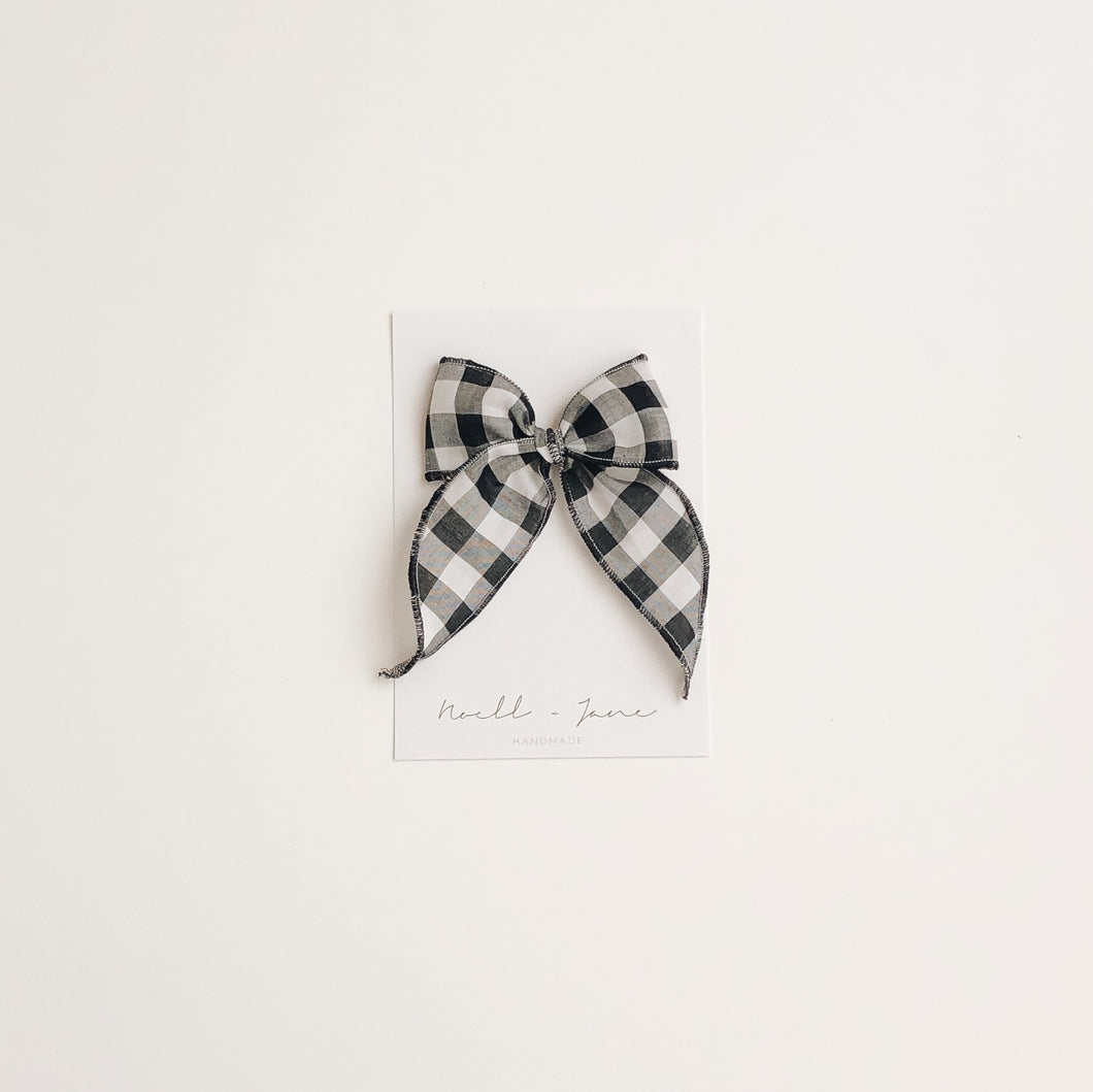 Sailor bow midi - black check