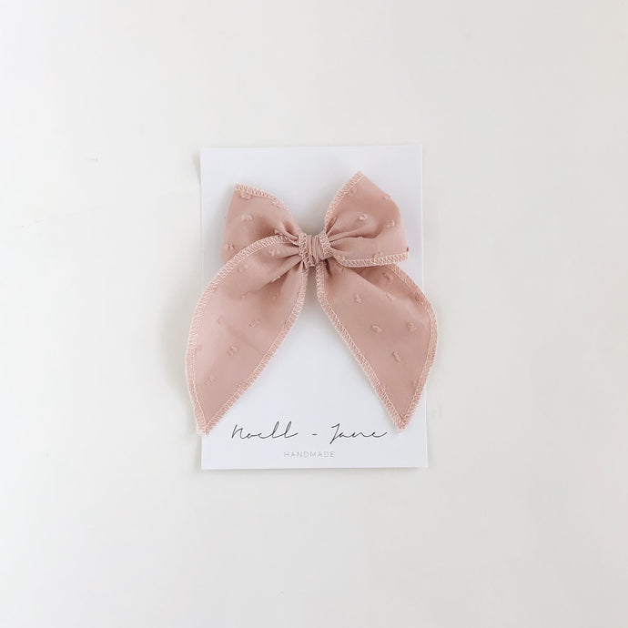 Sailor bow - mauve dot
