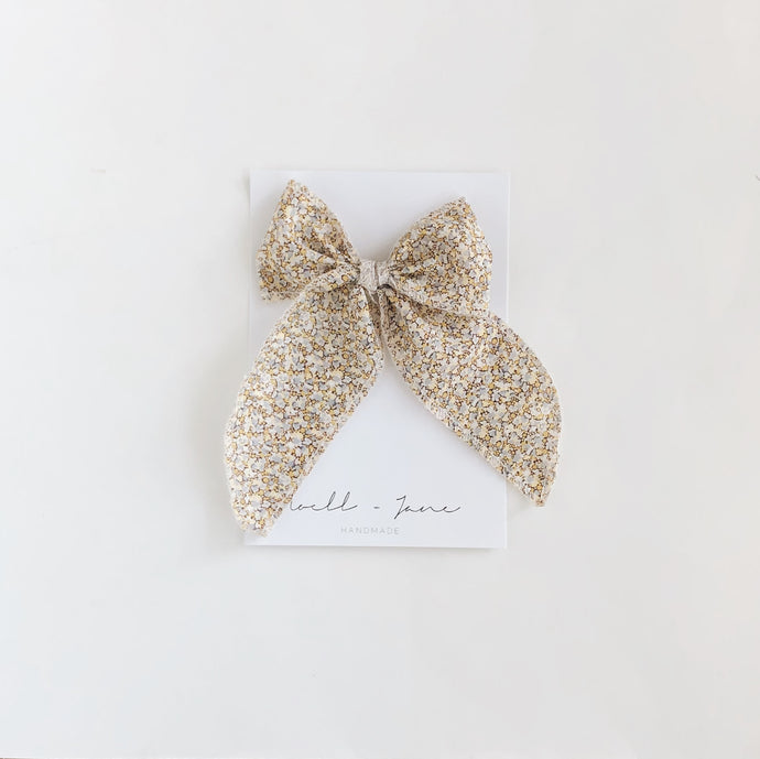 Sailor bow - peppercorn
