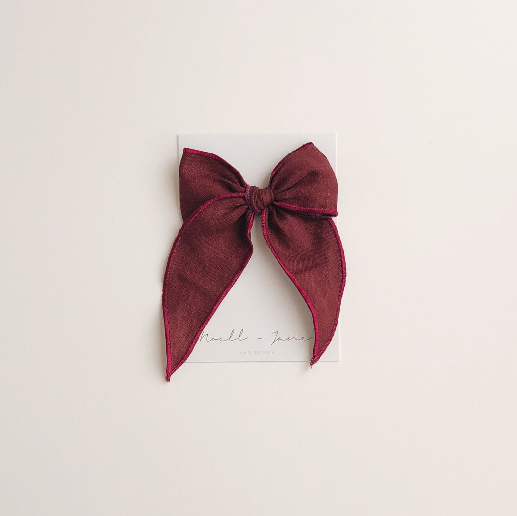Sailor bow - plum