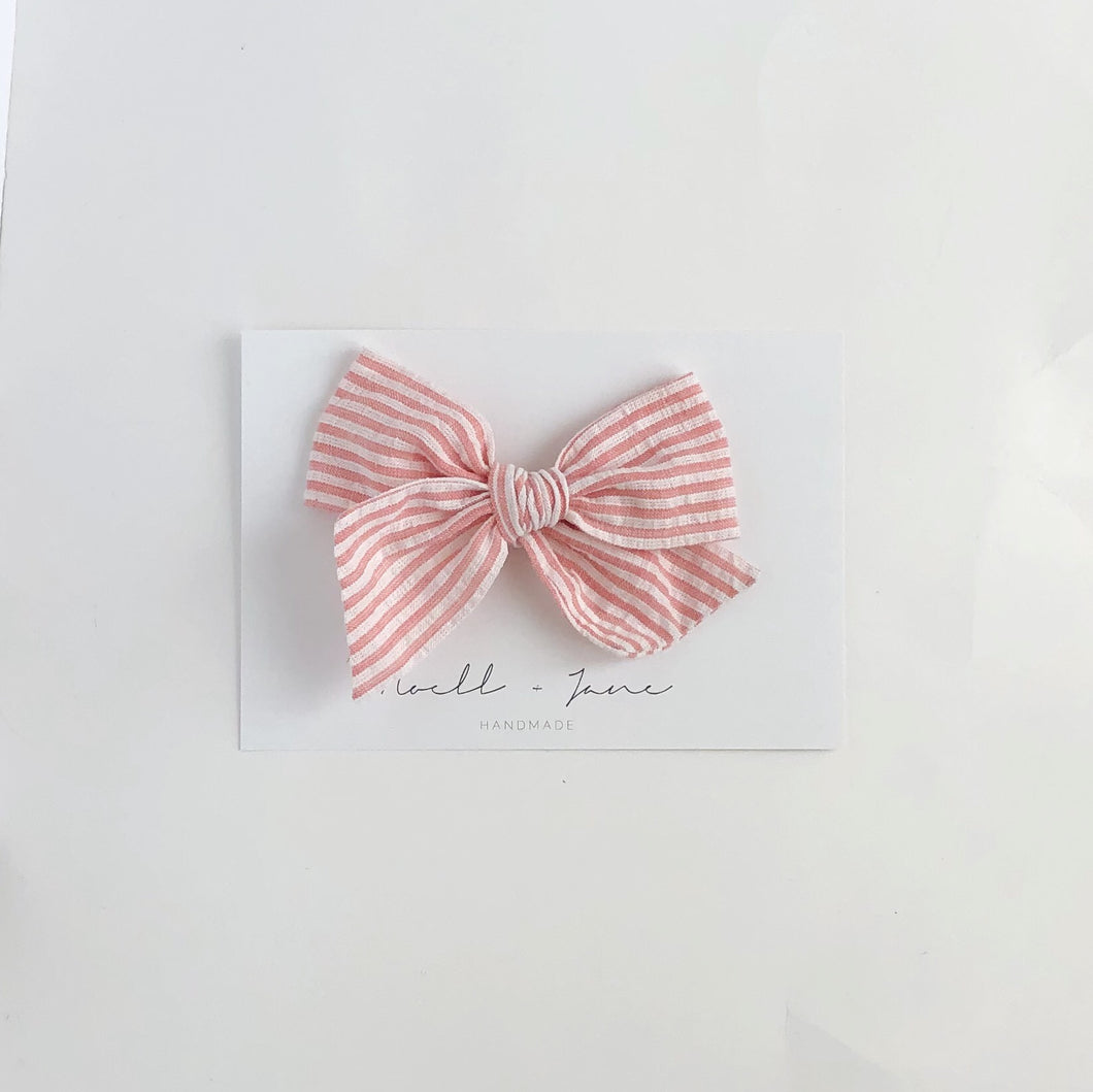 large pinwheel - rose stripe