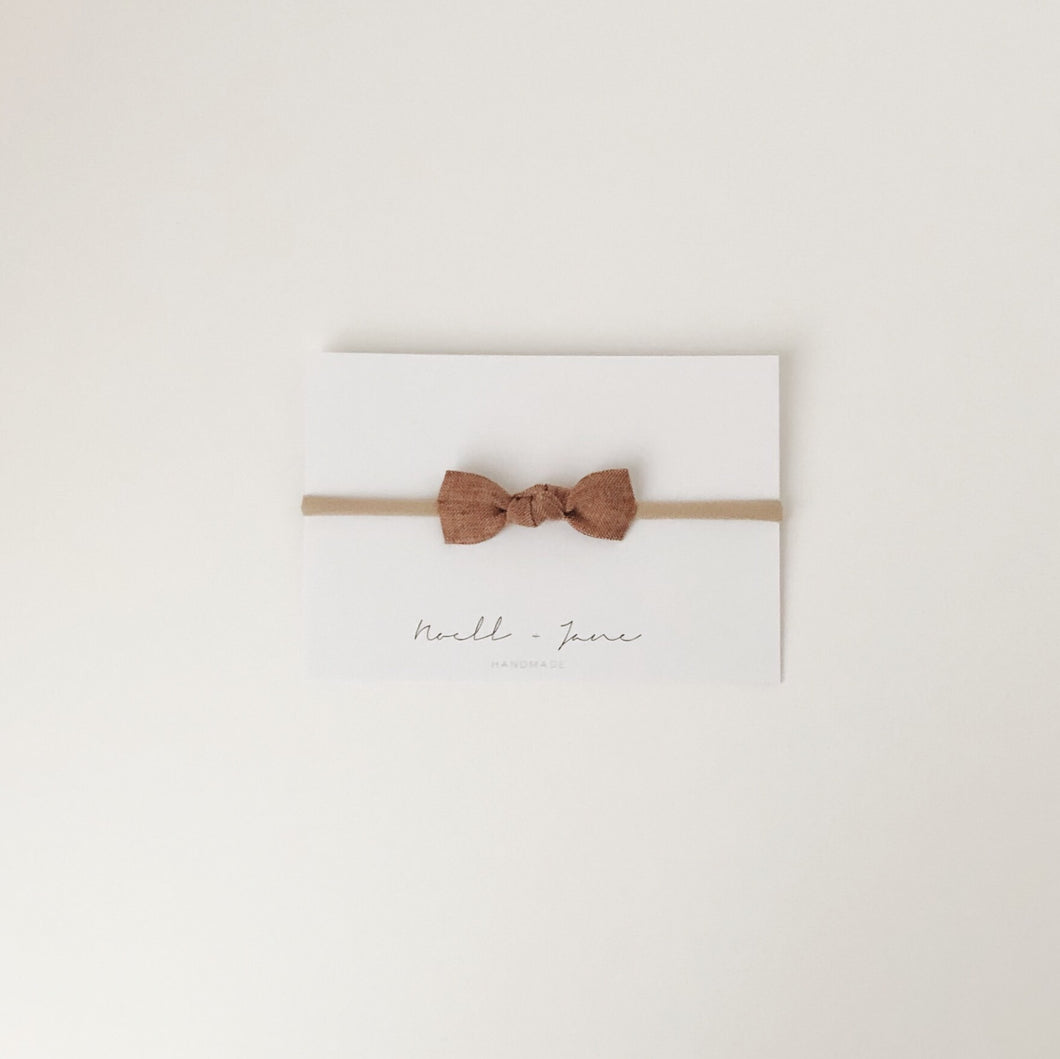 knot bow - burnt orange