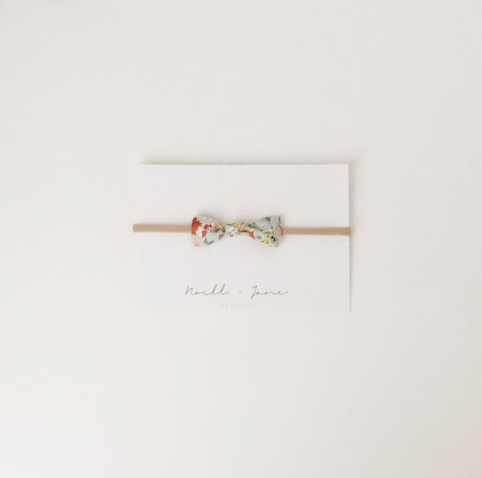 knot bow - spring floral