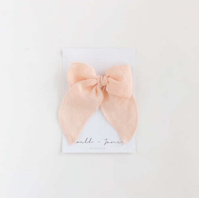 Sailor bow - Peach