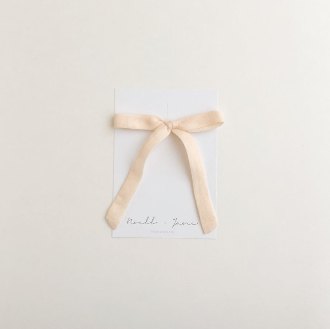 thin ribbon - peach