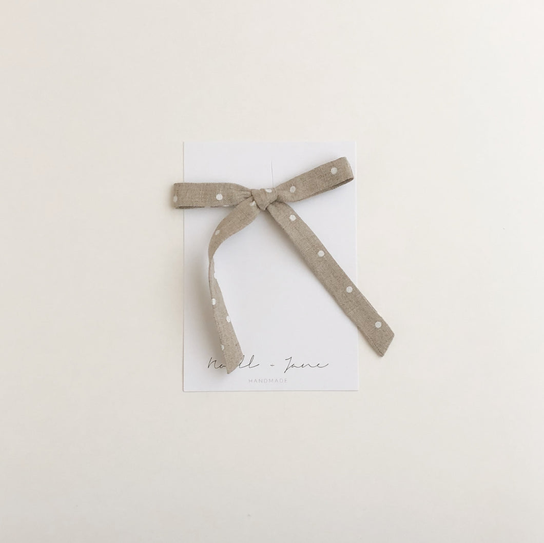thin ribbon - natural dot