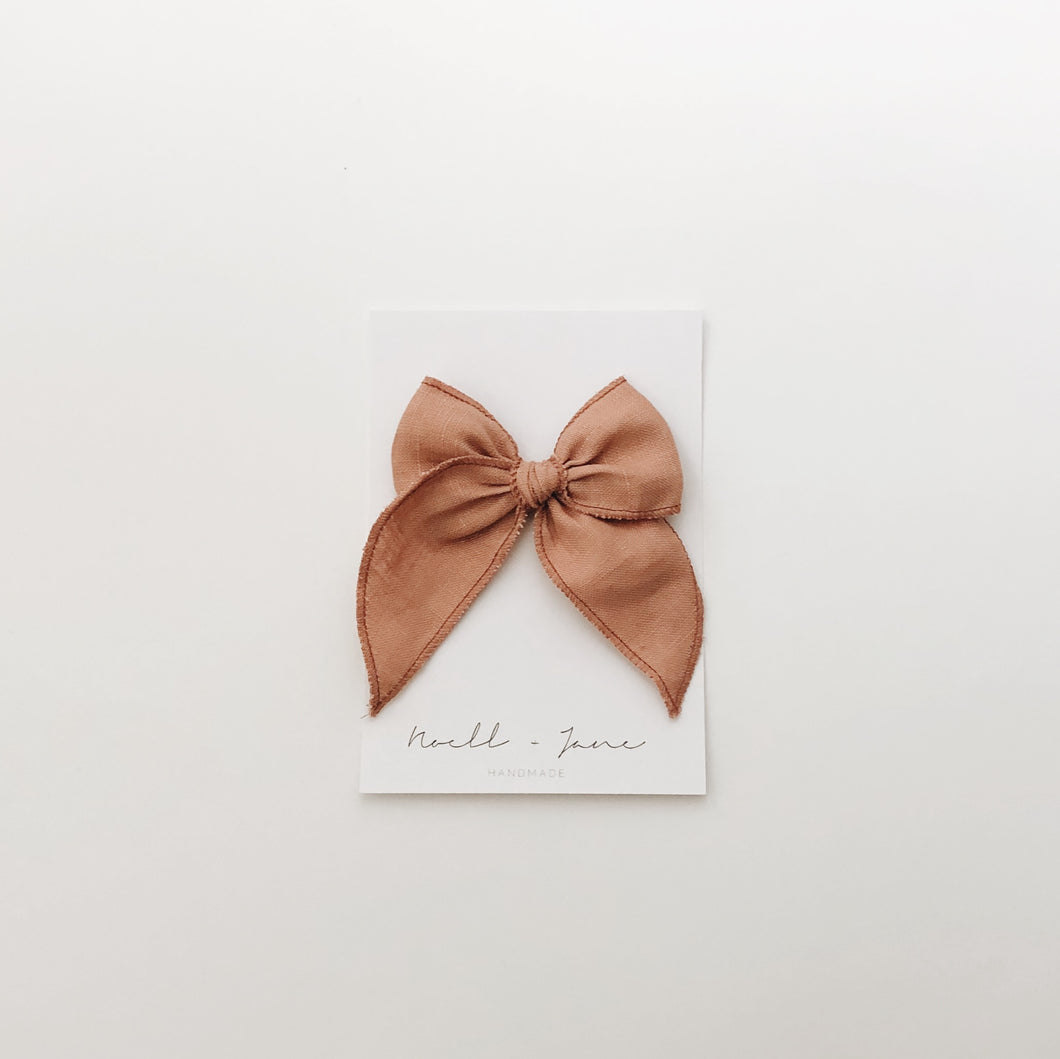 sailor bow - dusty rose
