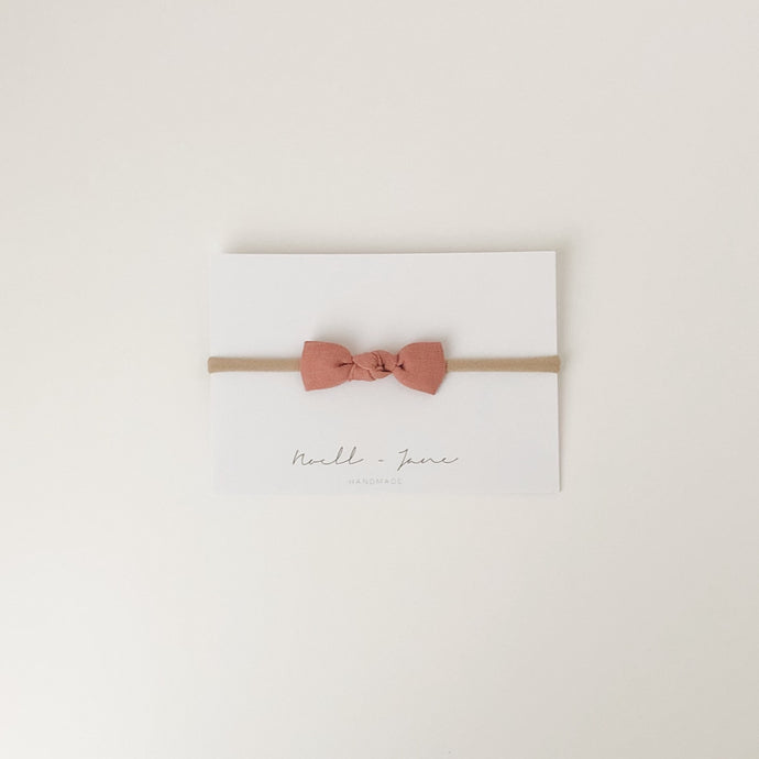 knot bow - tea rose