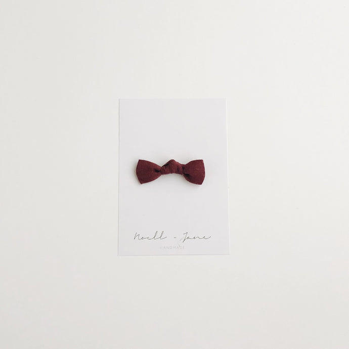 knot bow - plum