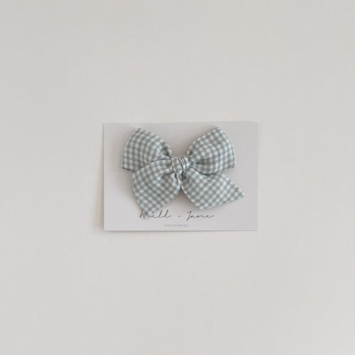 large pinwheel - blue check