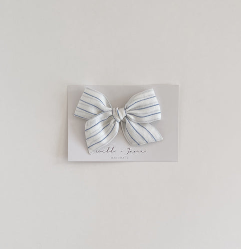 large pinwheel - blue stripe