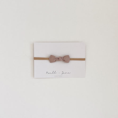 knot bow -  dusty lavender