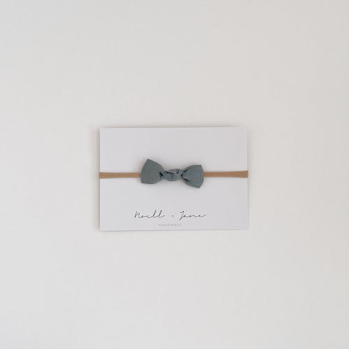knot bow -  dusty blue
