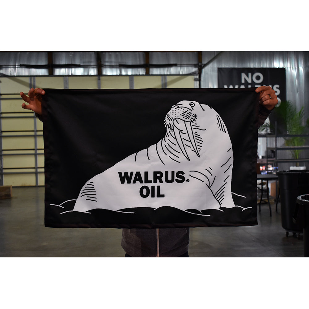 Walrus Oil Polyester Flag