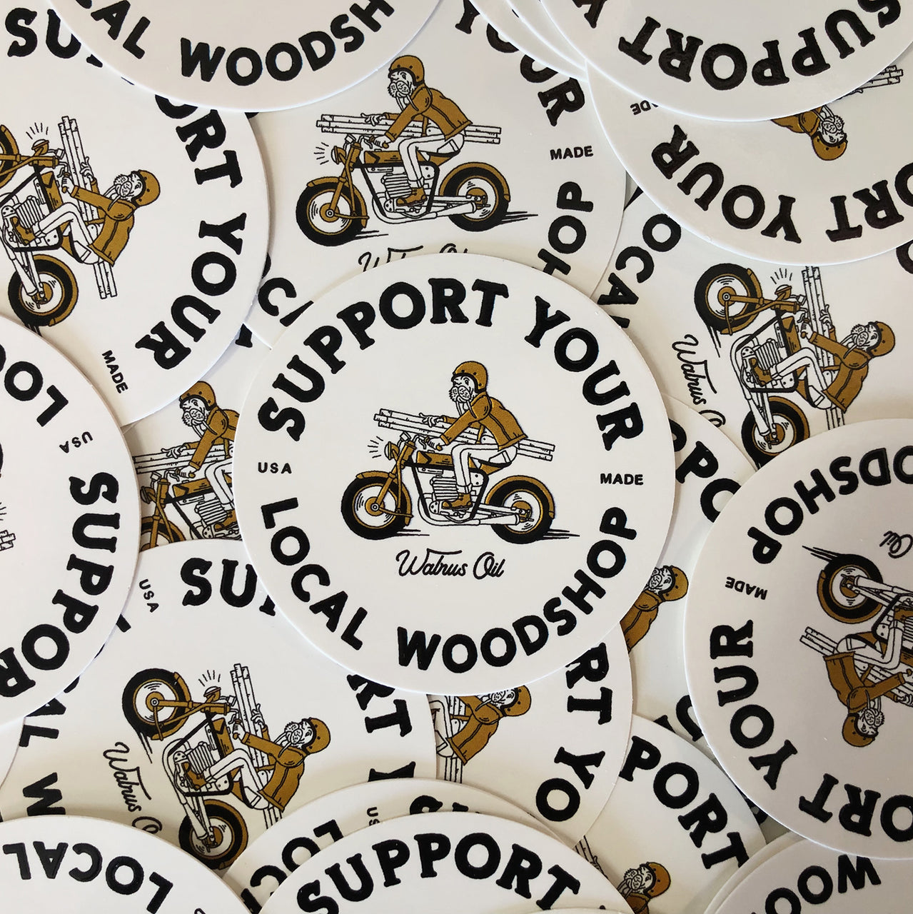 Support Your Local Woodshop, Moto Sticker Pack