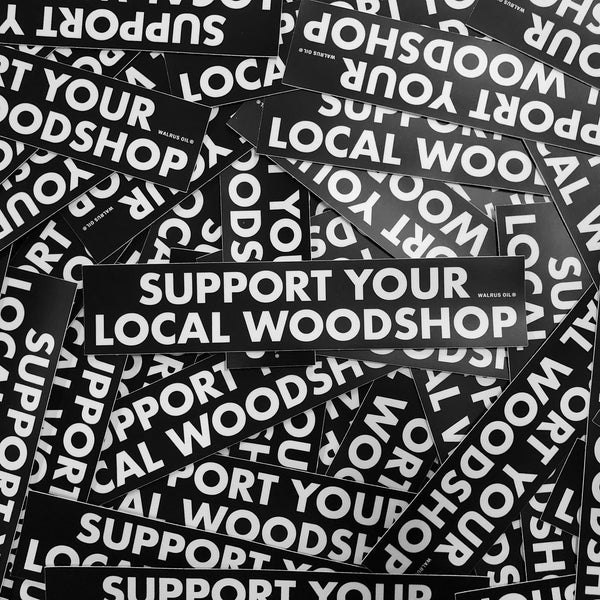 Support Your Local Woodshop, Sticker Pack