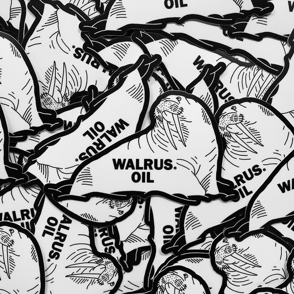 Walrus Oil Die-Cut Sticker Pack