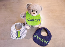 Load image into Gallery viewer, Personalized Newborn Baby Bibs