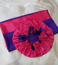 Load image into Gallery viewer, Dual Colors Bonnet/Pillowcase Sets