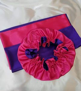 Dual Colors Bonnet/Pillowcase Sets