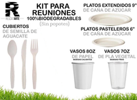 Kit Completo para Reuniones (100% Biodegradables) SIN POPOTES