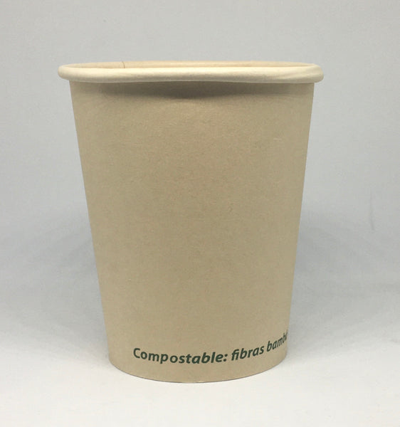 Vaso 8oz / 236ml de bambú (Biodegradable) - Bebidas calientes
